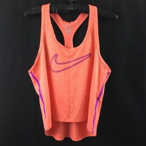 Nike Riley Crop Running Top Size Small